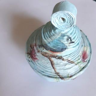 Deckeldose klein Vogel