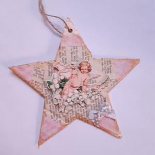 Stern rosa Engel 2