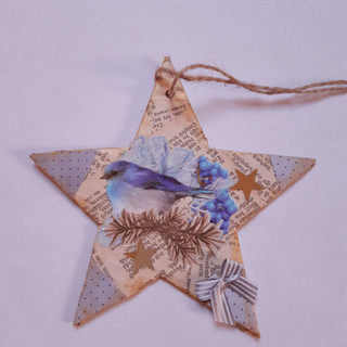 Stern blau Vogel