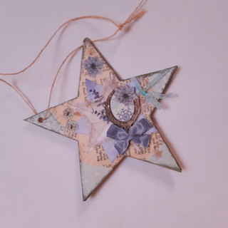 Stern blau Spiegel