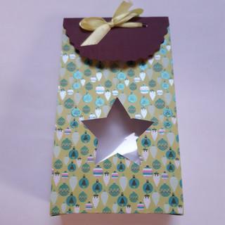 Geschenktüte          Stern grün