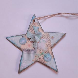 Stern blau Schleife