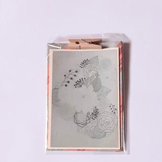 Kleine Karte Blumen grün