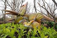 Life-size dinosaur immersive exhibit at Woodland Park Zoo