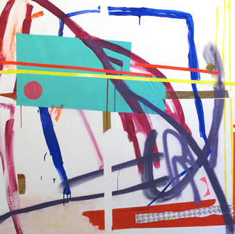 Climax, 2012, mixed media on canvas, 150x150 cm