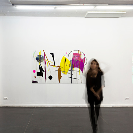 "Installation view from ""Contuinuty"" at Raw Art gallery tlv"