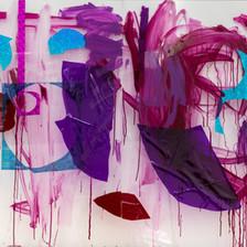 Purple Bordeaux, 2018  Mixed mediaon Plexiglass 110x160cm