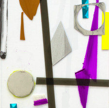 Untitled, Acrylic, wallpaper sticker, and tape on plexiglass, 40x30cm, 2016