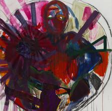 WOMEN - DARK, Mixed media on canvas,170x150cm, 2020