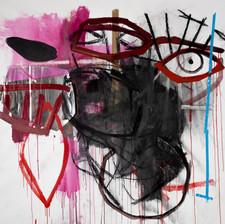 Dark Eye, Mixed media on canvas, 155.5x183 cm, 2020 Photo: Daniel Hanoch