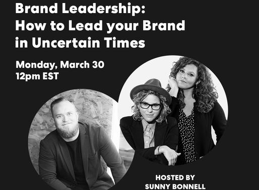 Brand Leadership in Uncertain Times - FREE WEBINAR