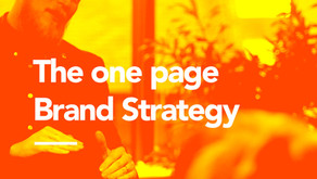 The one slide Brand Strategy