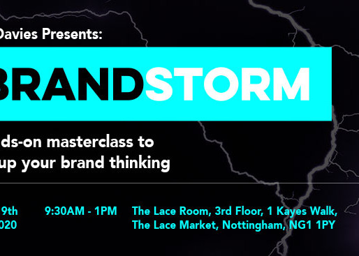 Brandstorm: My Nottingham Masterclass now open for bookings
