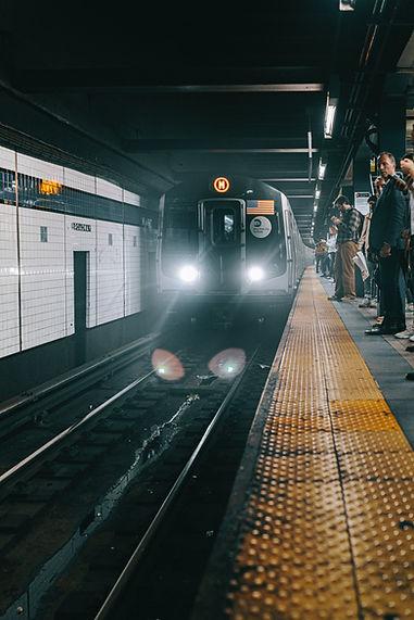 Subway train PAR 46 headlights