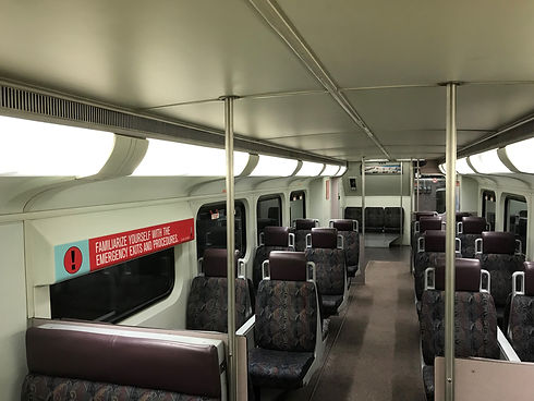 Rail coach interior ligthing