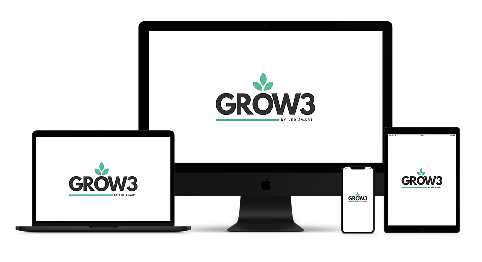 Grow3 logo on different devices