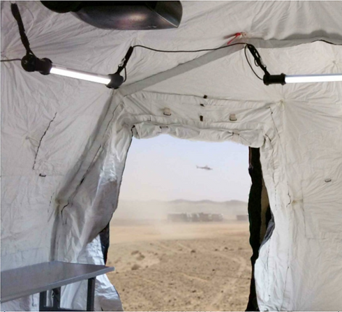 HTL-BU Series hanging in troop shelter