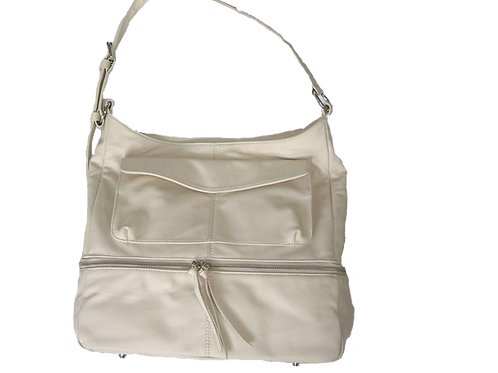 Winter White Leather ANITABAG