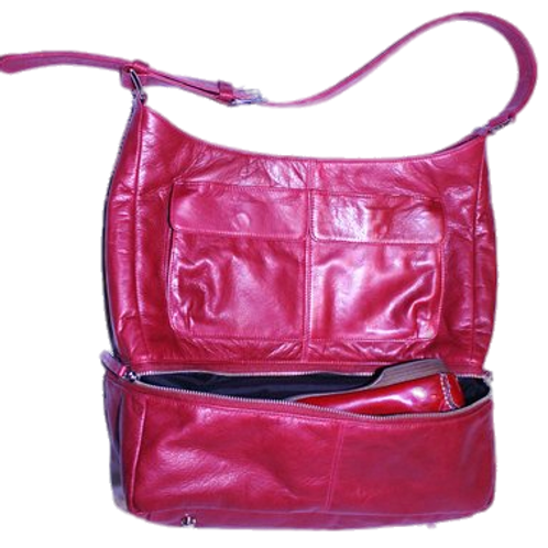 ANITABAG Red Italian Leather