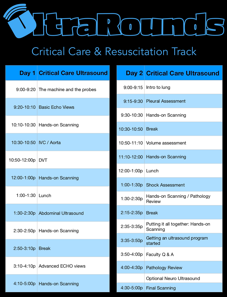 UltraRounds Schedule CC ultrasound.png