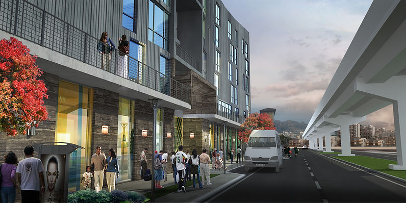 7TH & CAMPBELL, ARCHITECT'S RENDERING, E