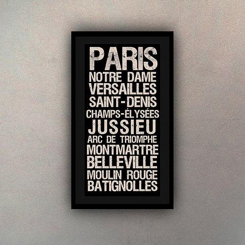 Cartel Tipografía París
