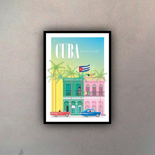 Afiche Vintage Cuba