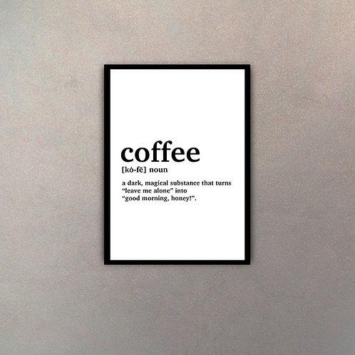 """""""Coffee"""" Definición Diccionario"""