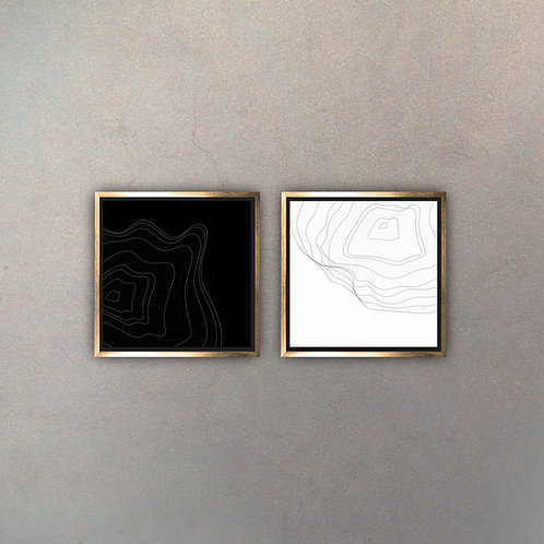 Set Arte Moderno Gold III (Canvas)