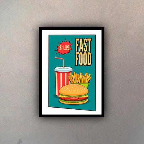 Afiche Vintage Fast Food