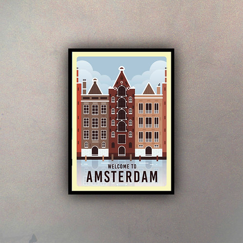 Afiche Vintage Amsterdam