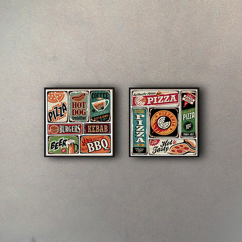 Set Pizza & Hot Dogs (2 Cuadros)