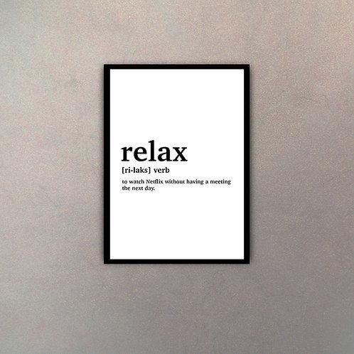 """""""Relax"""" Definición Diccionario"""