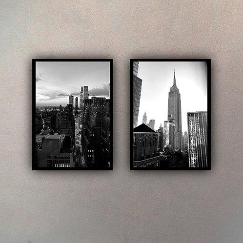 Set Vista New York III (2 Cuadros)