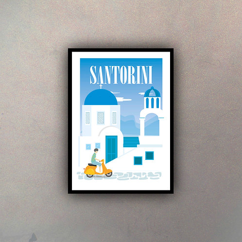 Afiche Vintage Santorini II