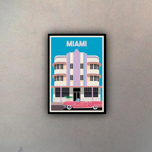 Afiche Vintage Miami
