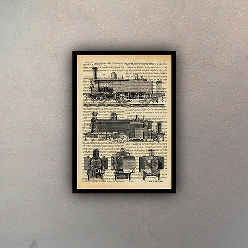Ferrocarril Fondo Vintage