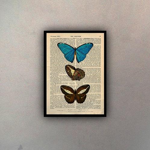 Mariposas VI Fondo Vintage