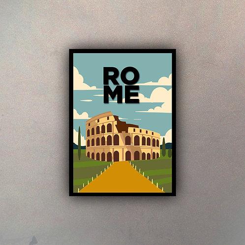 Afiche Vintage Rome