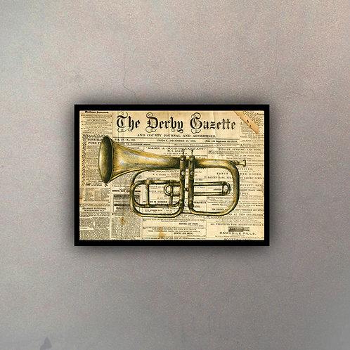 Trompeta Fondo Vintage