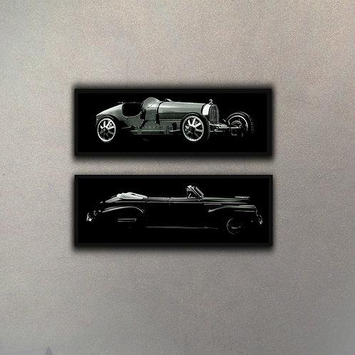 Set Autos de Colección (2 Cuadros)