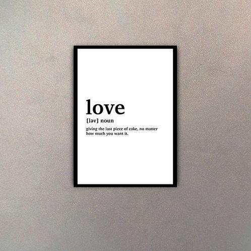 """""""Love"""" Definición Diccionario"""