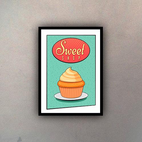 Afiche Vintage Sweet Shop