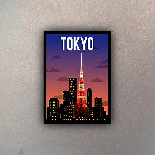 Afiche Vintage Tokyo