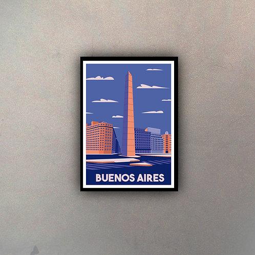 Afiche Vintage Buenos Aires