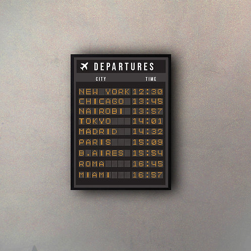 Cartel Aeropuerto Vertical