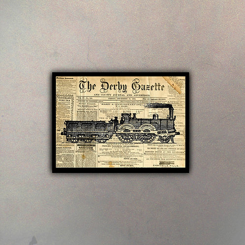 Ferrocarril II Fondo Vintage