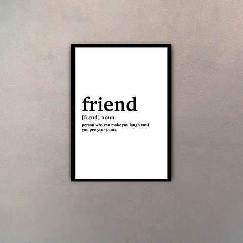 """""""Friend"""" Definición Diccionario"""