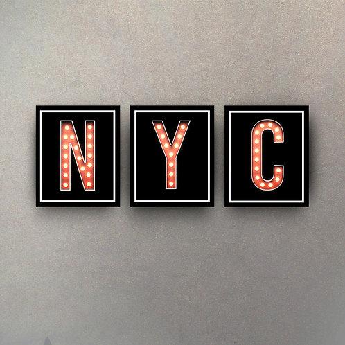 Set NYC Marquesina (3 cuadros)