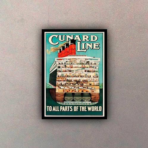 Afiche Vintage Cunard Line